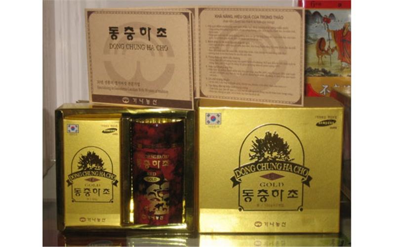 Đông trùng hạ thải Bio Samsung Hàn Quốc hộp 2 lọ 100 gam